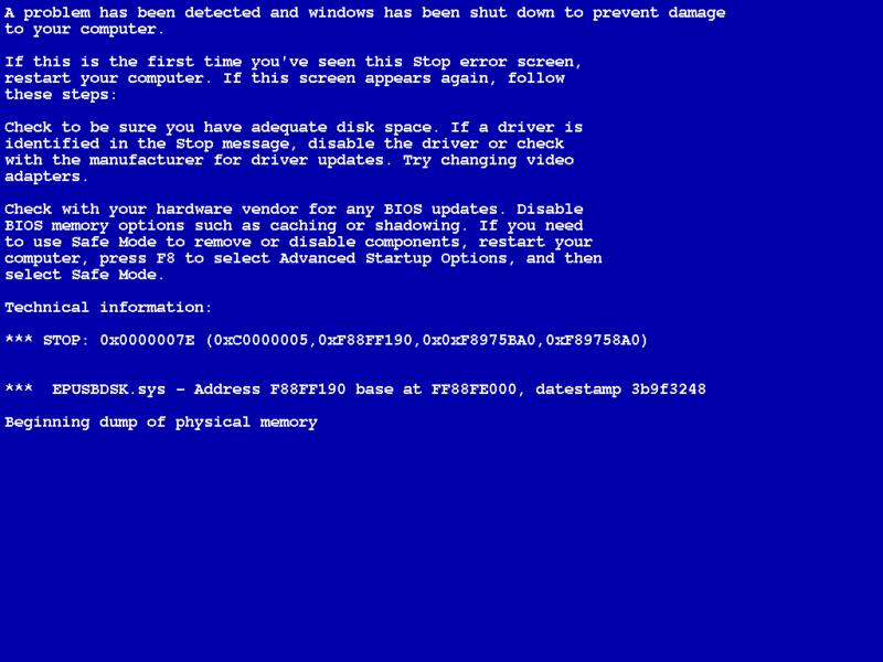 Как сделать чтобы комп не перезагружался при синем экране