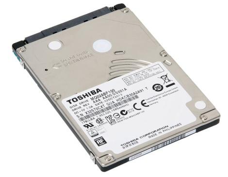 Toshiba - выпуск тонких жёстких дисков