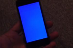 iPhone 5s - «синий экран смерти».