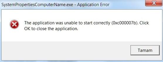 На компьютере ошибка при запуске приложения 0xc000007b.