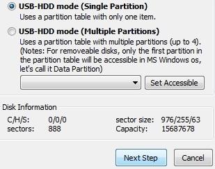 singlepartition