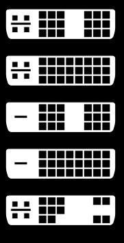Виды DVI разъема. DVI-I Single, DVI-I Dual, DVI-D Sindle, DVI-D Dual, DVI-A