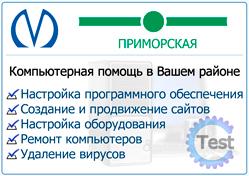 Компьютерная помощь на Приморской в Санкт-Петербурге